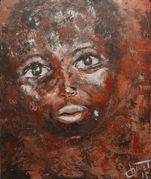 tableau africain au couteau
